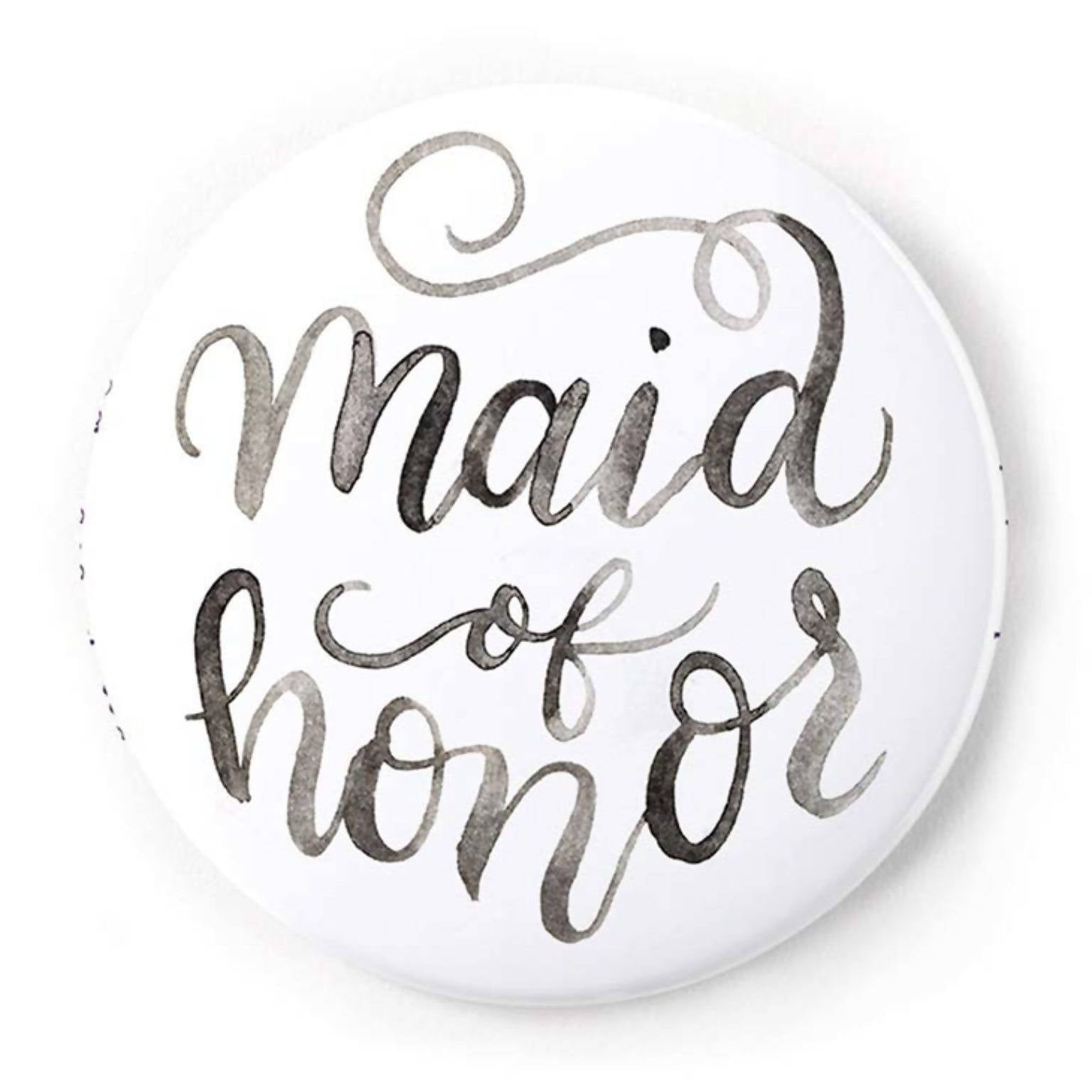 Maid of Honor 2 Inch Pin-Back Button