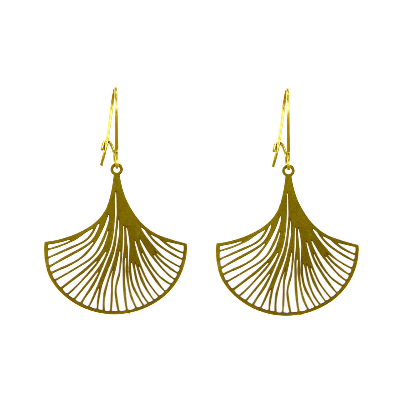 Ginkgo Fan Earrings