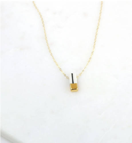 Tiny Striped Necklace