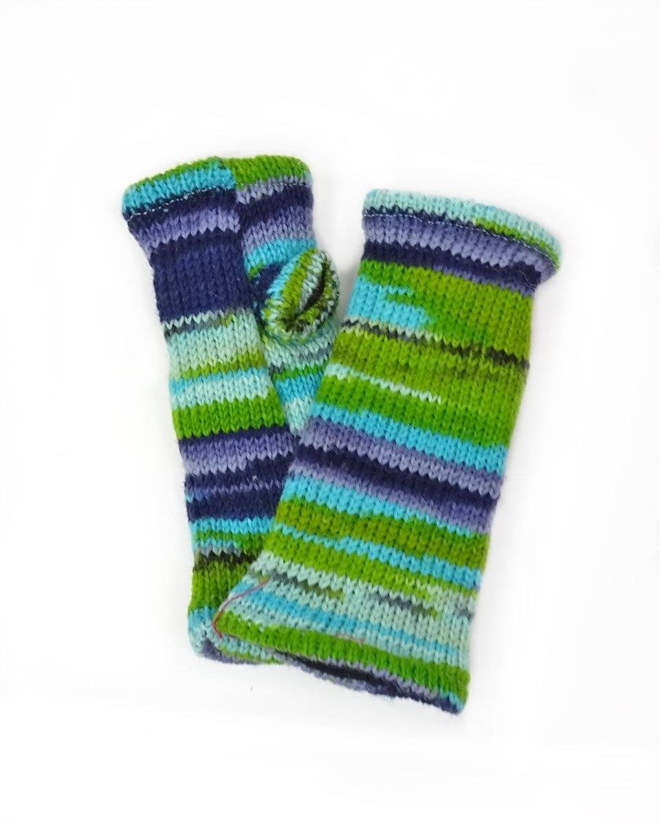 Multi-Stripe Fingerless Gloves