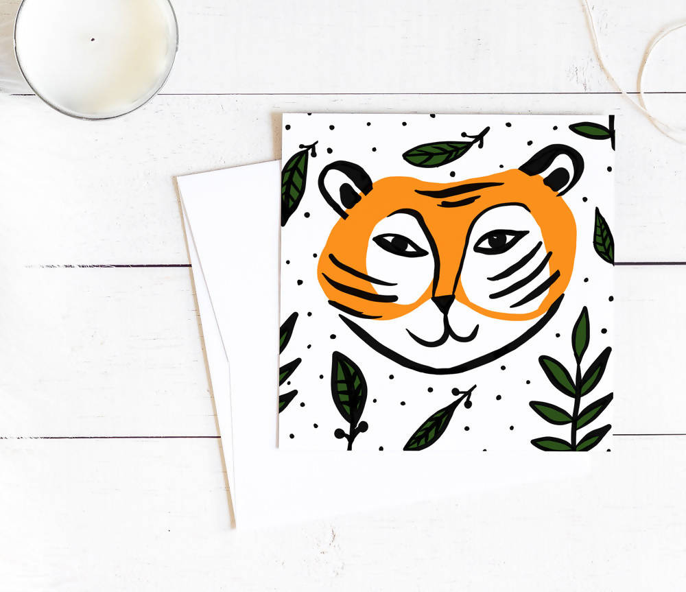 THE HAPPY TIGER GREETING CARD