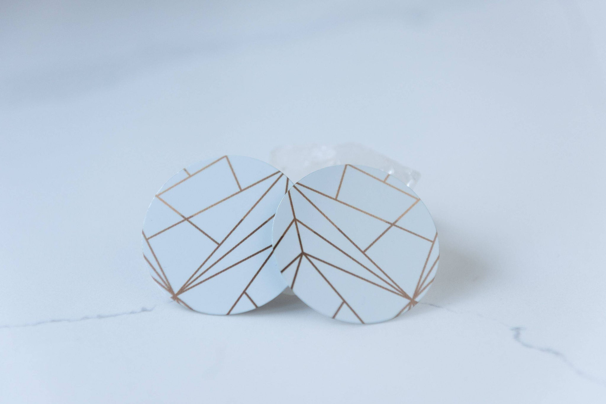 Elements in White 2 Inch Earrings