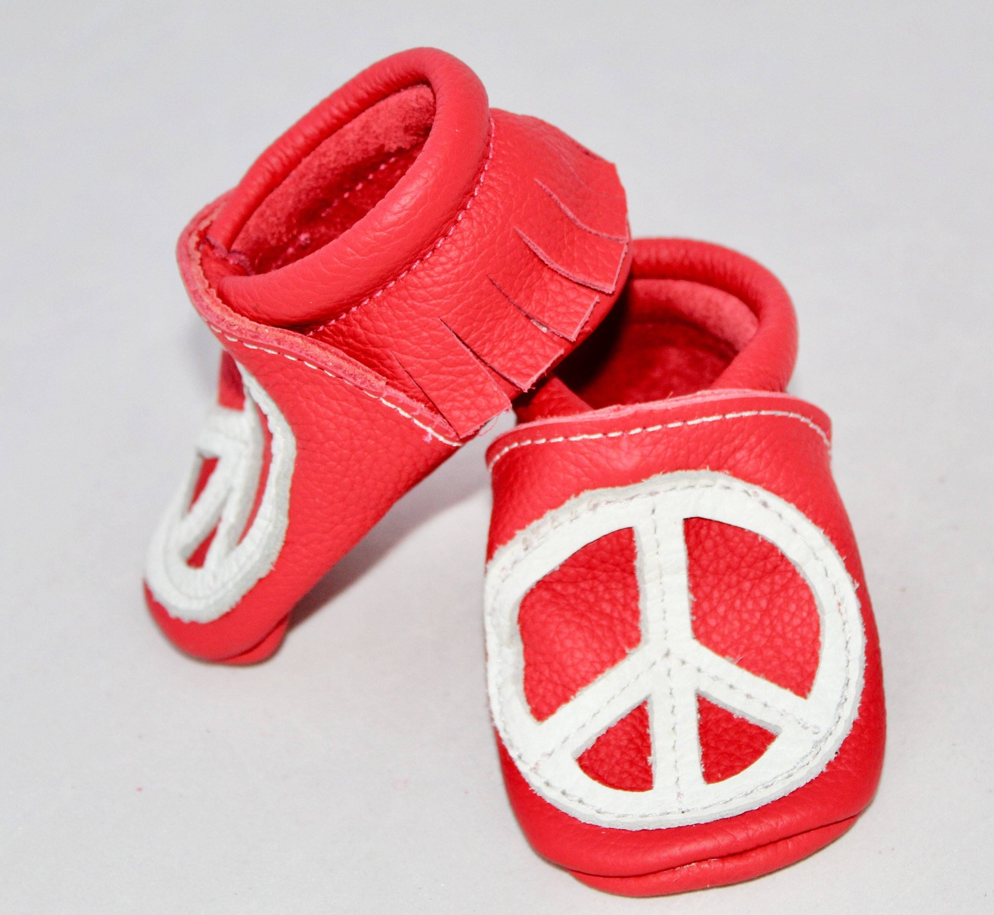 Peace Over Heart- Moccs