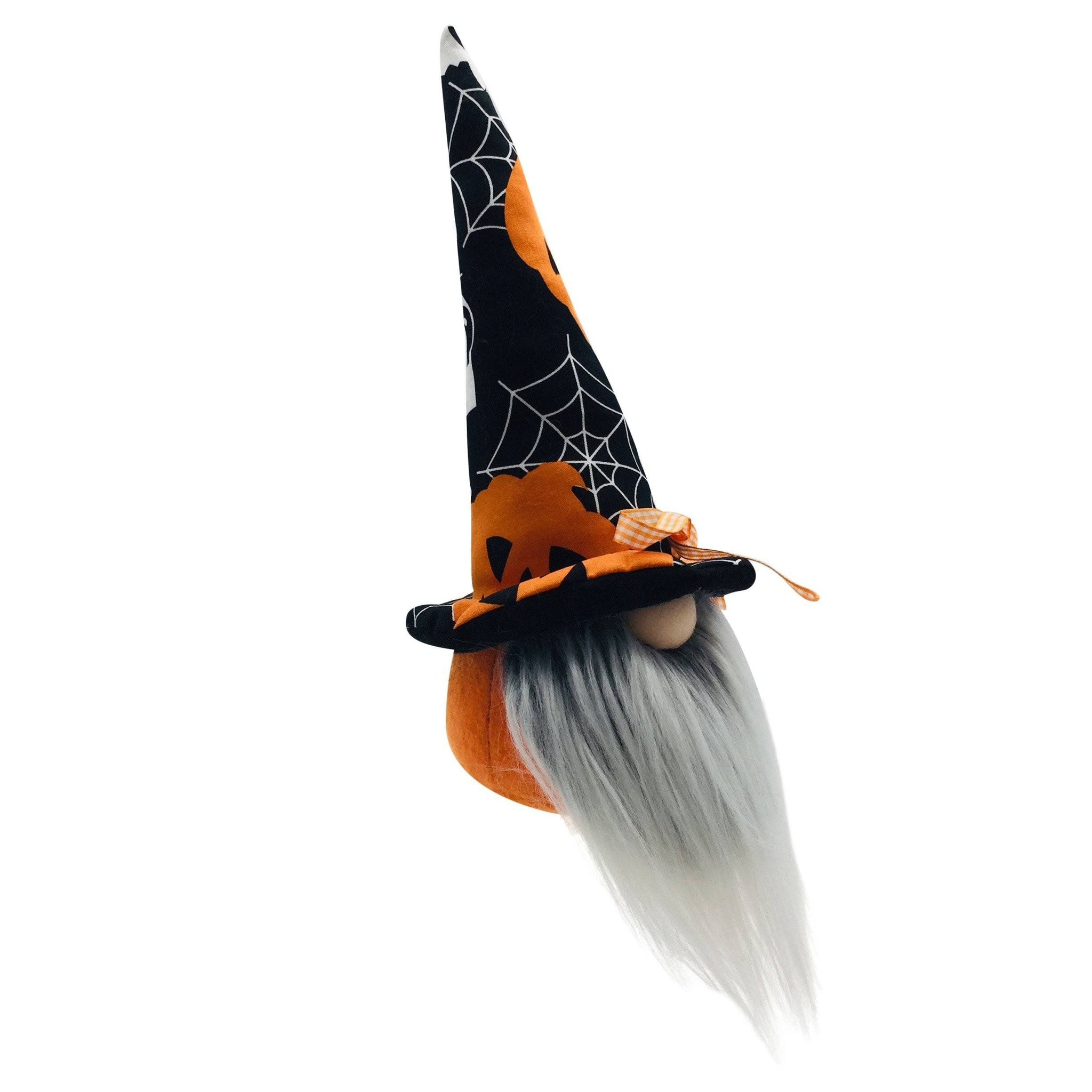 BLACK PUMPKIN HAT HALLOWEEN GNOME BOY