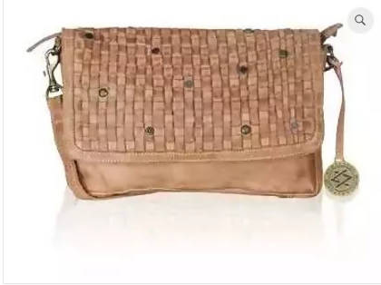 Handbag with sling, Genuine Leather, Italian Designer - Zoya