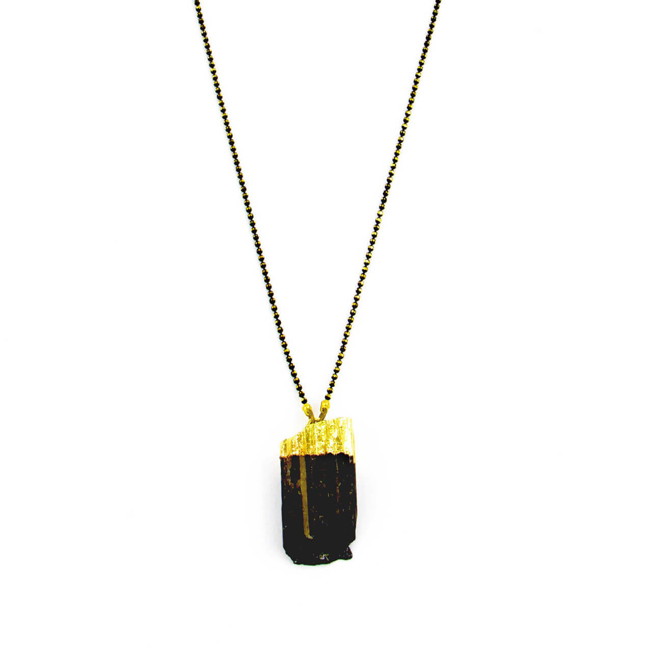 Black Tourmaline Nugget Necklace