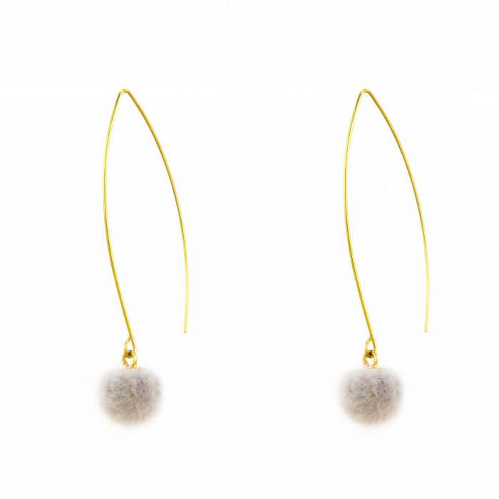 Pom Puff Earrings