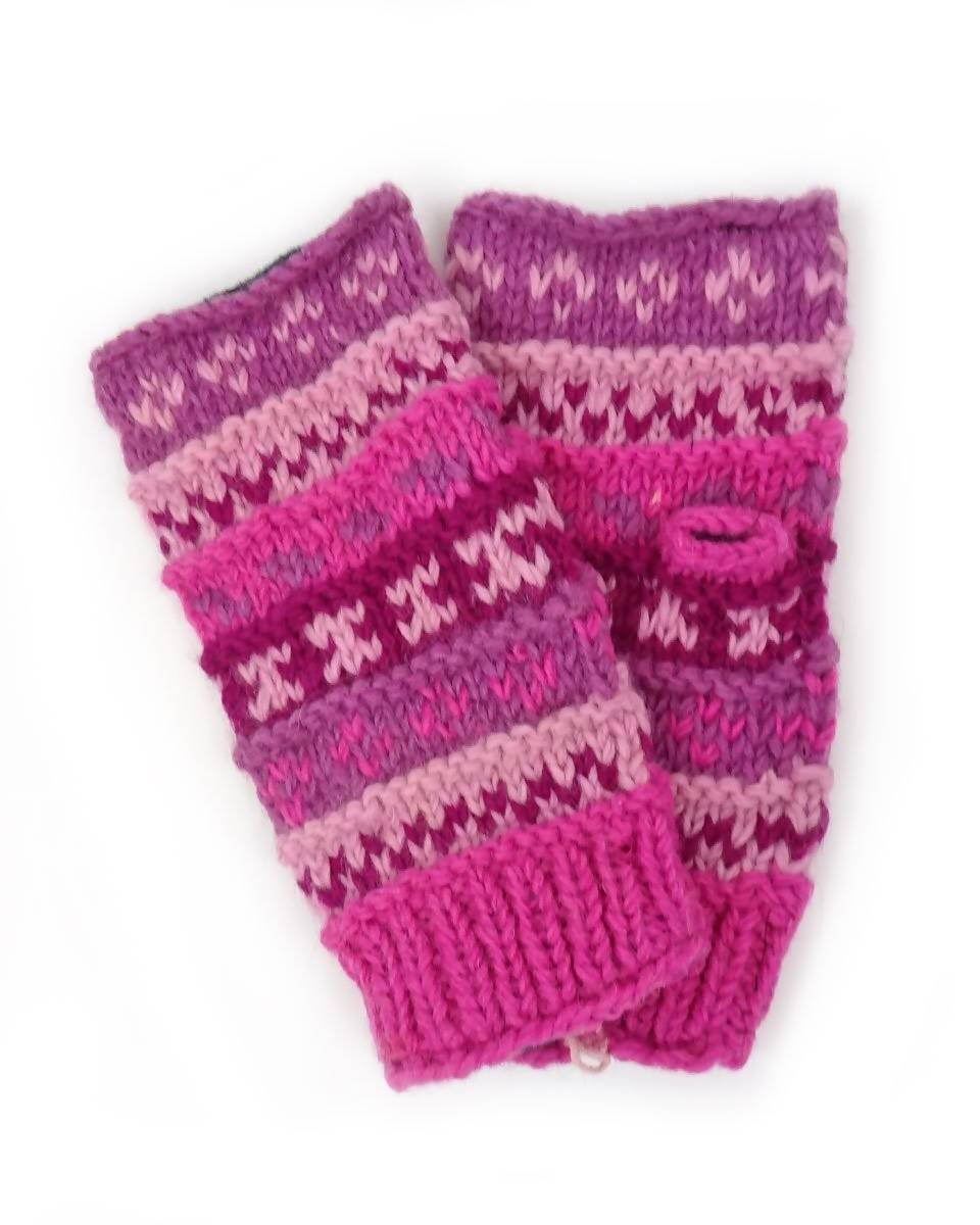 Ribbed Fingerless Gloves