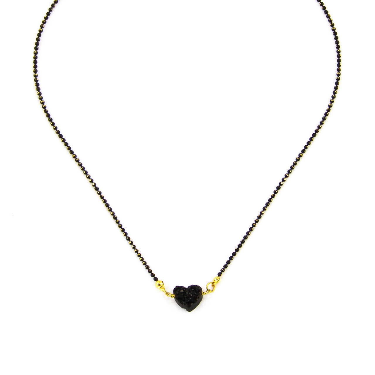 Druzy Heart Choker Necklace
