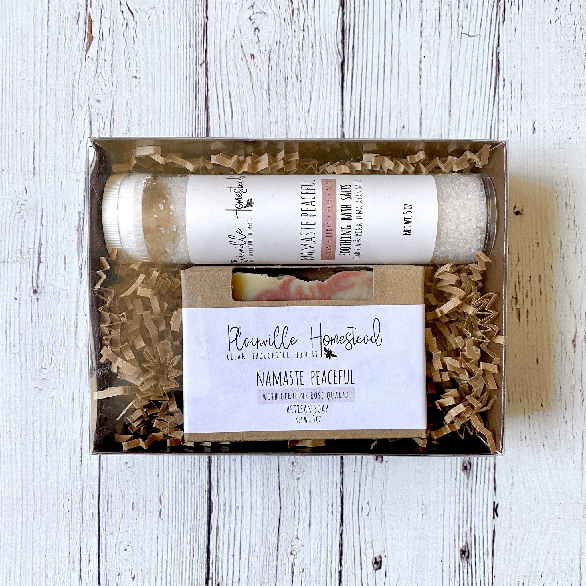 Namaste Bath Salt & Crystal Soap Set