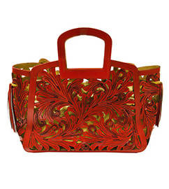 Catalina Tote Red/Gold