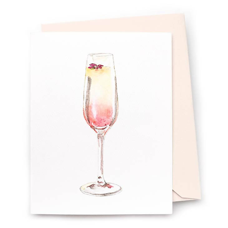 Grapefruit Mimosa Note Cards, Set of 8