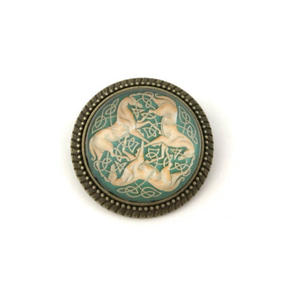 Celtic Horse Pin – Handmade Jewelry