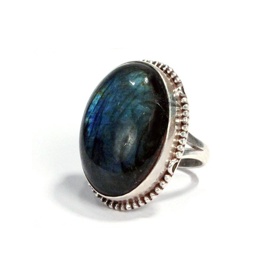 Rope Bezel Ring with Stone