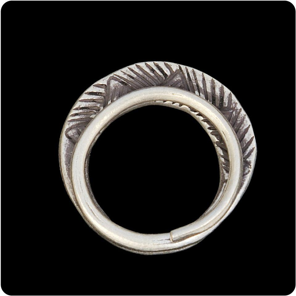 Tribal Ring with Line Design