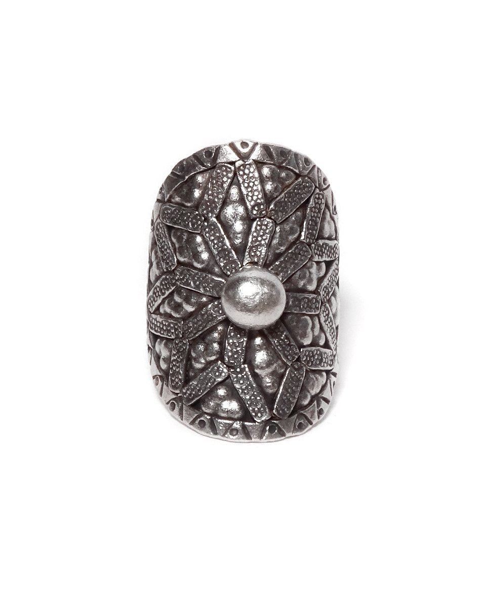 Tribal Ring with Star Design