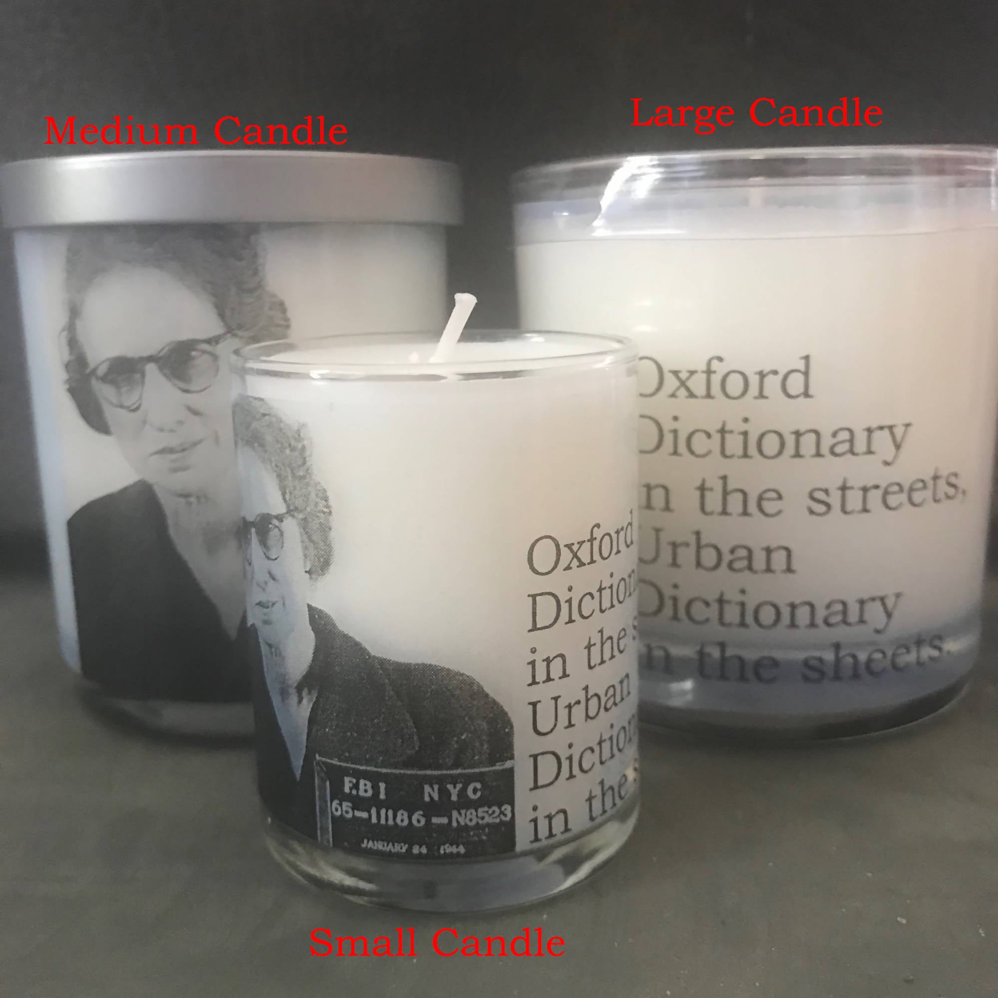 Big House Candles, Oxford dictionary in the streets…