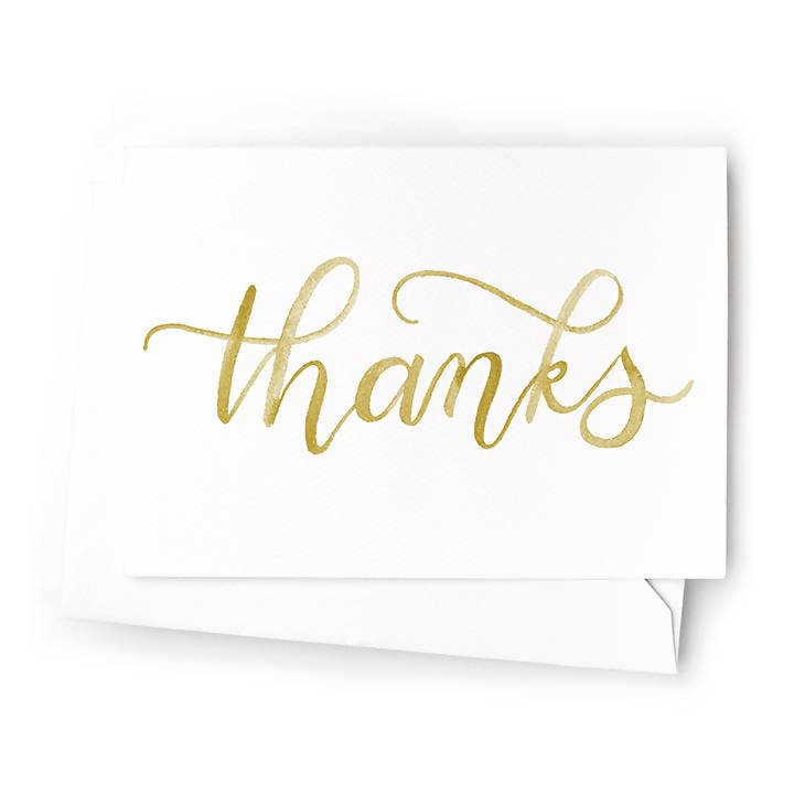 Thanks Mini Cards, Set of 6