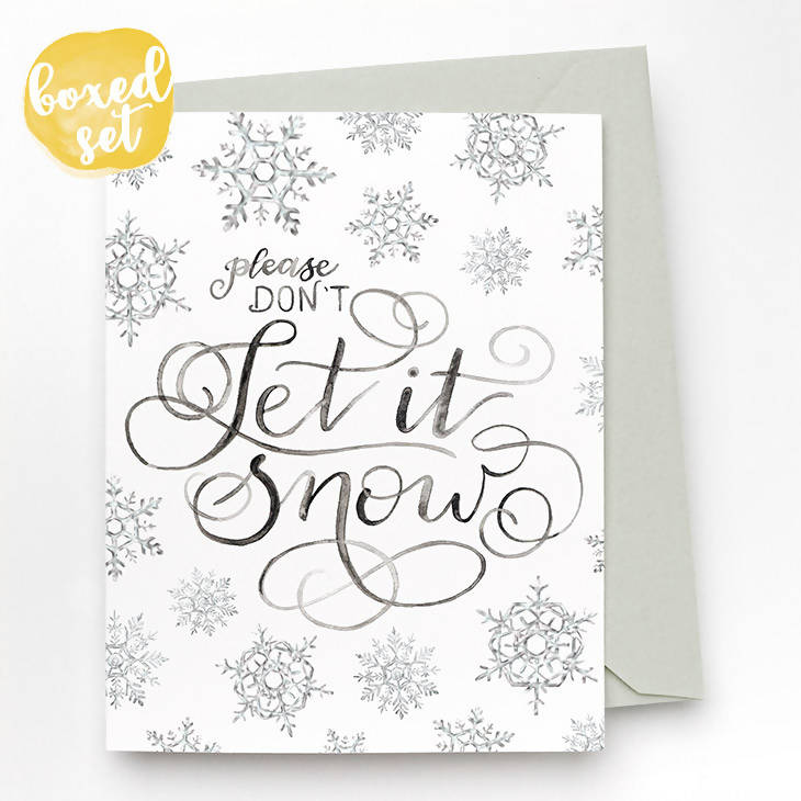 Don't Let It Snow Cards, Set of 8