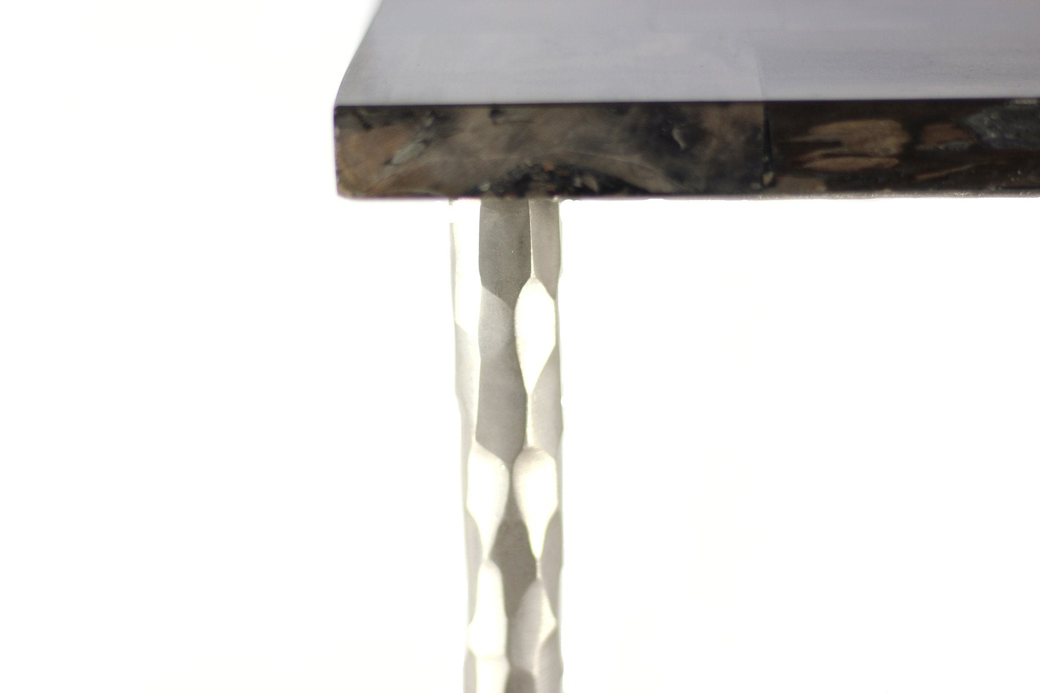 Ossified Wood Large Side Table