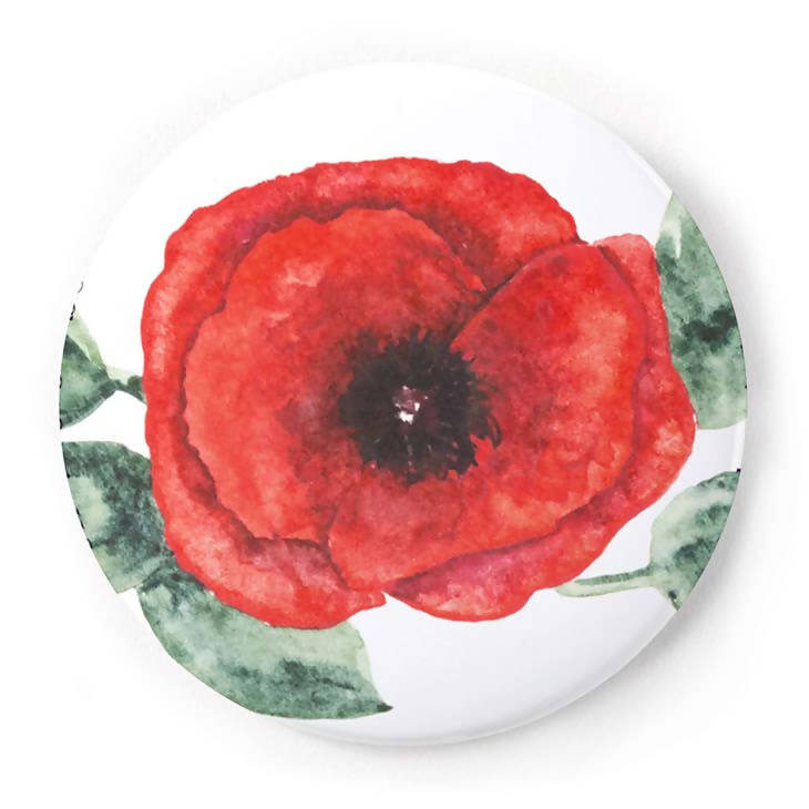 Poppy 2 Inch Pin-Back Button