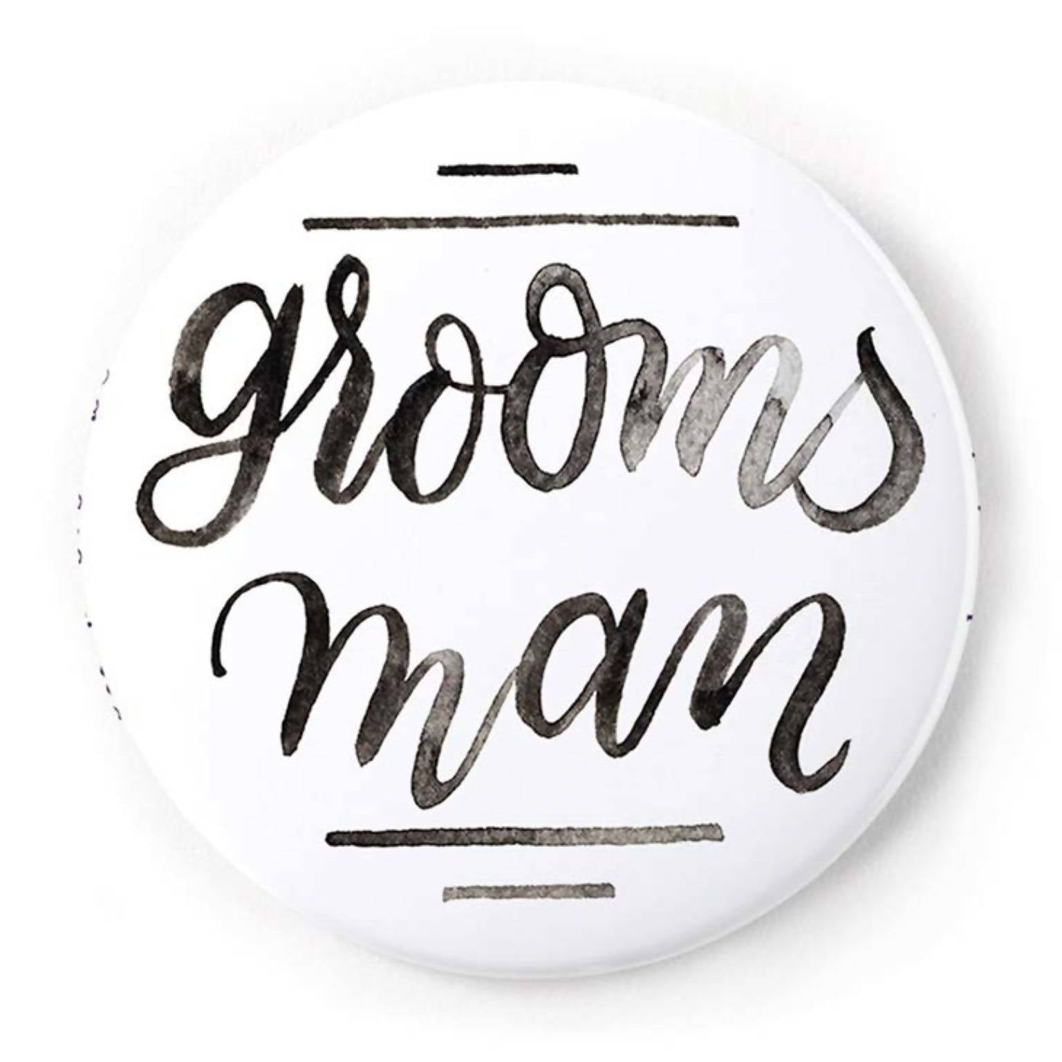 Groomsman 2 Inch Pin-Back Button
