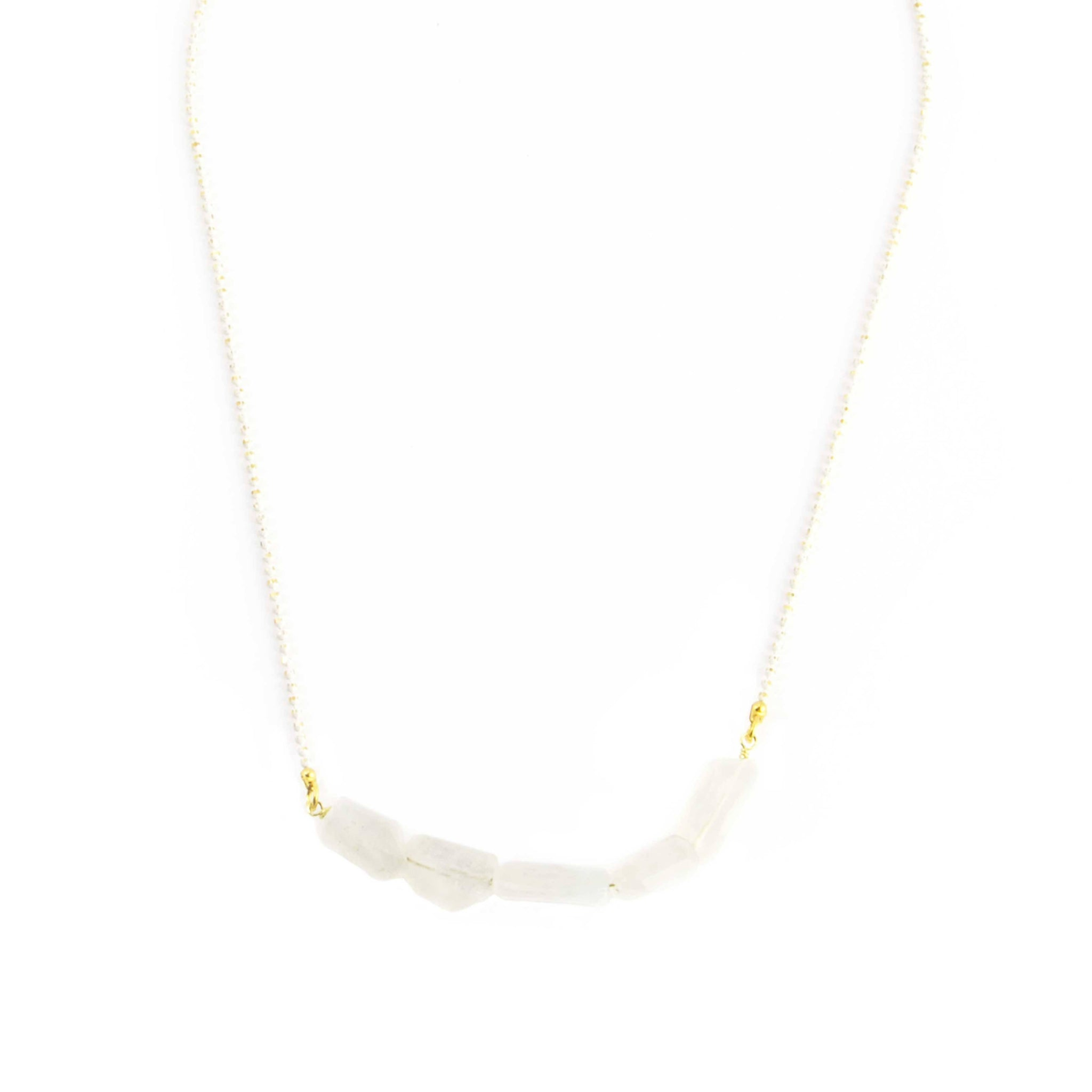 Moonstone Chunks Necklace