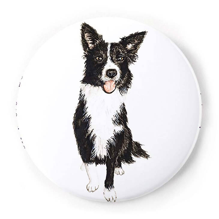 Border Collie 2 Inch Pin-Back Button