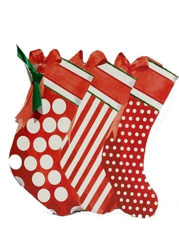 GHW765W Christmas Stocking with glitter