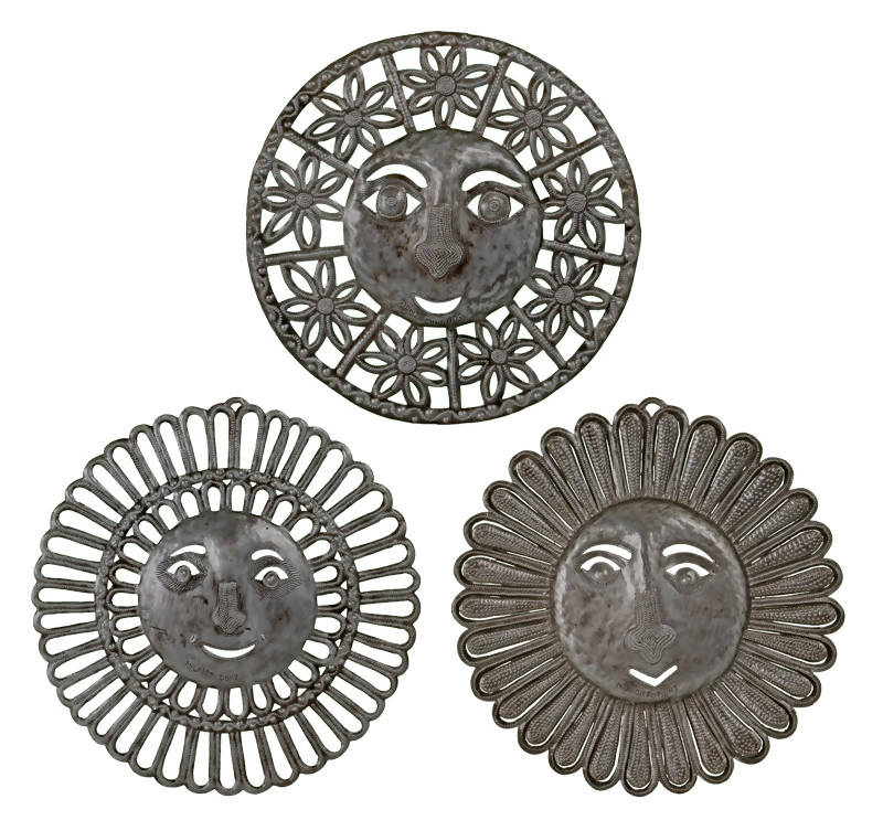 Floral Sunfaces - Set of three