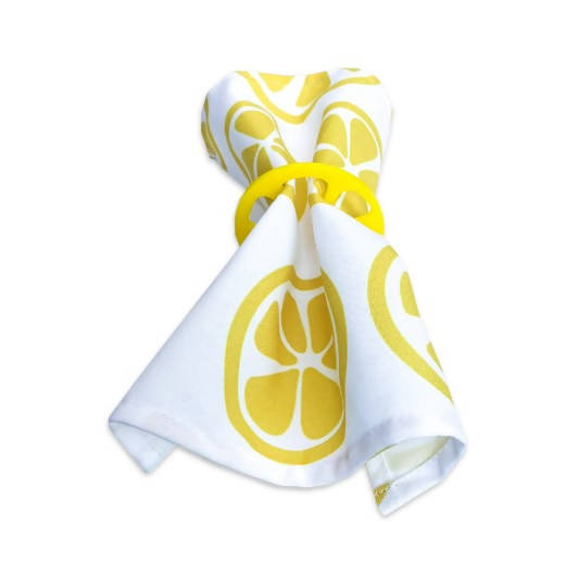 Napkin Rings - Lemons & Leaves Set of 4
