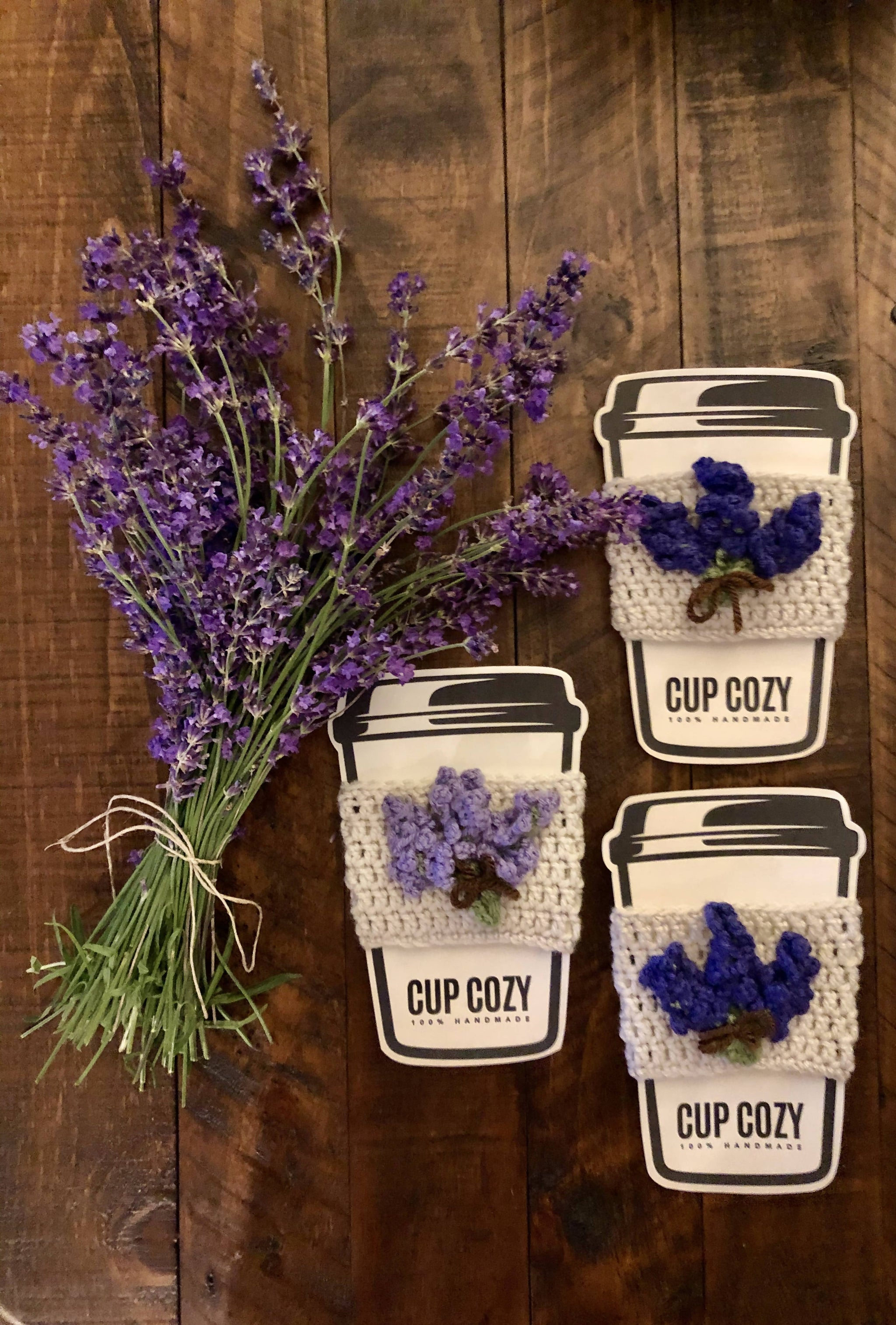 Lavender Fields Coffee Cup Cozy