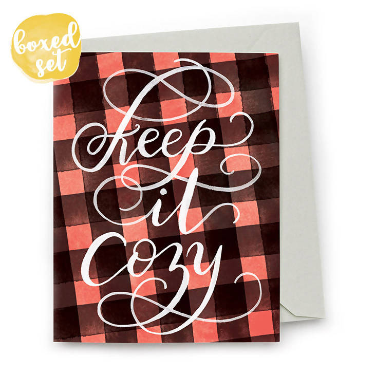 Keep It Cozy Cards, Set of 8