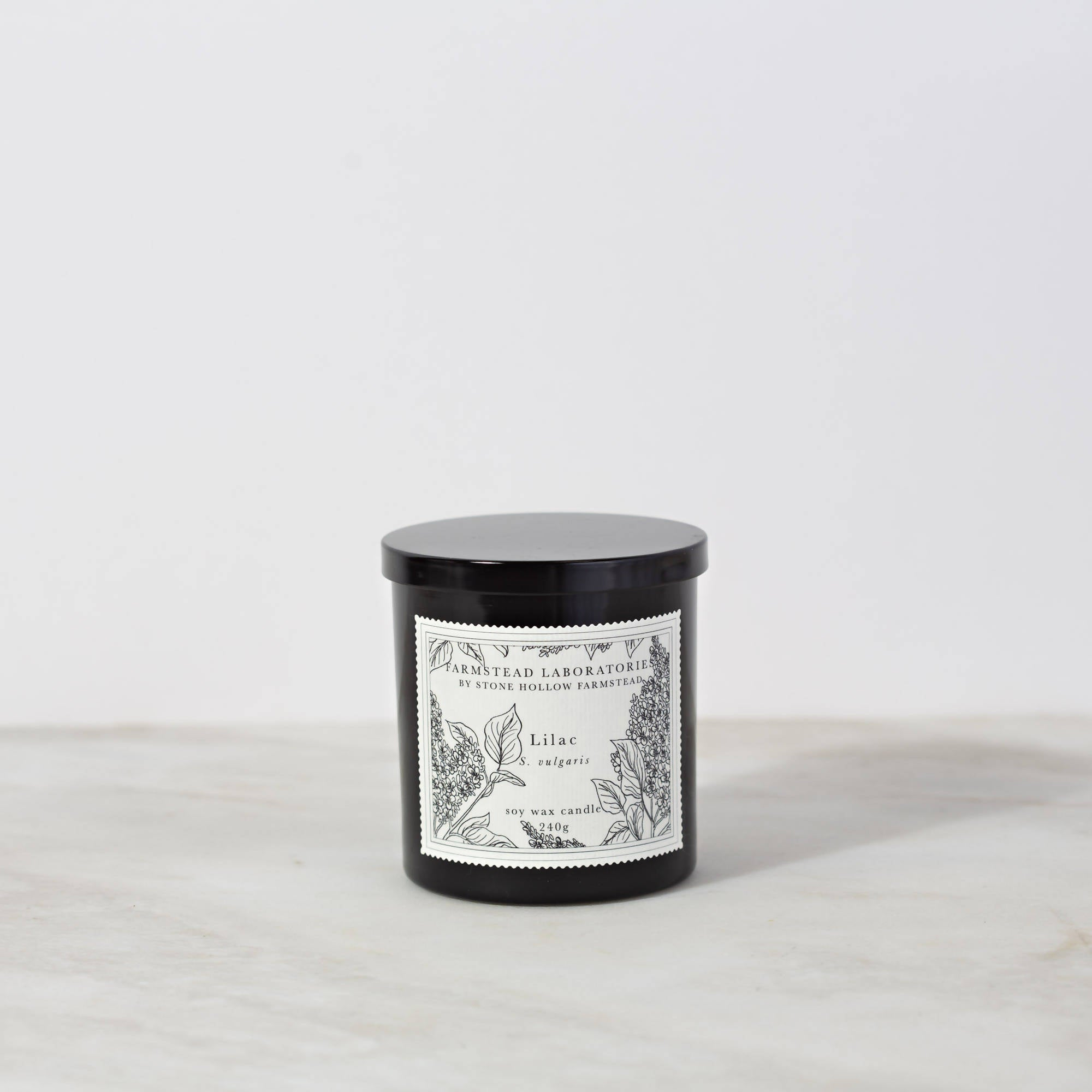 BOTANICAL SOY WAX CANDLE / LILAC