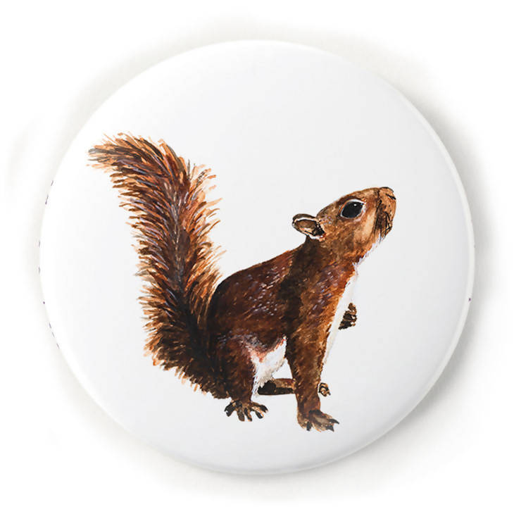 Squirrel 2 Inch Pin-Back Button