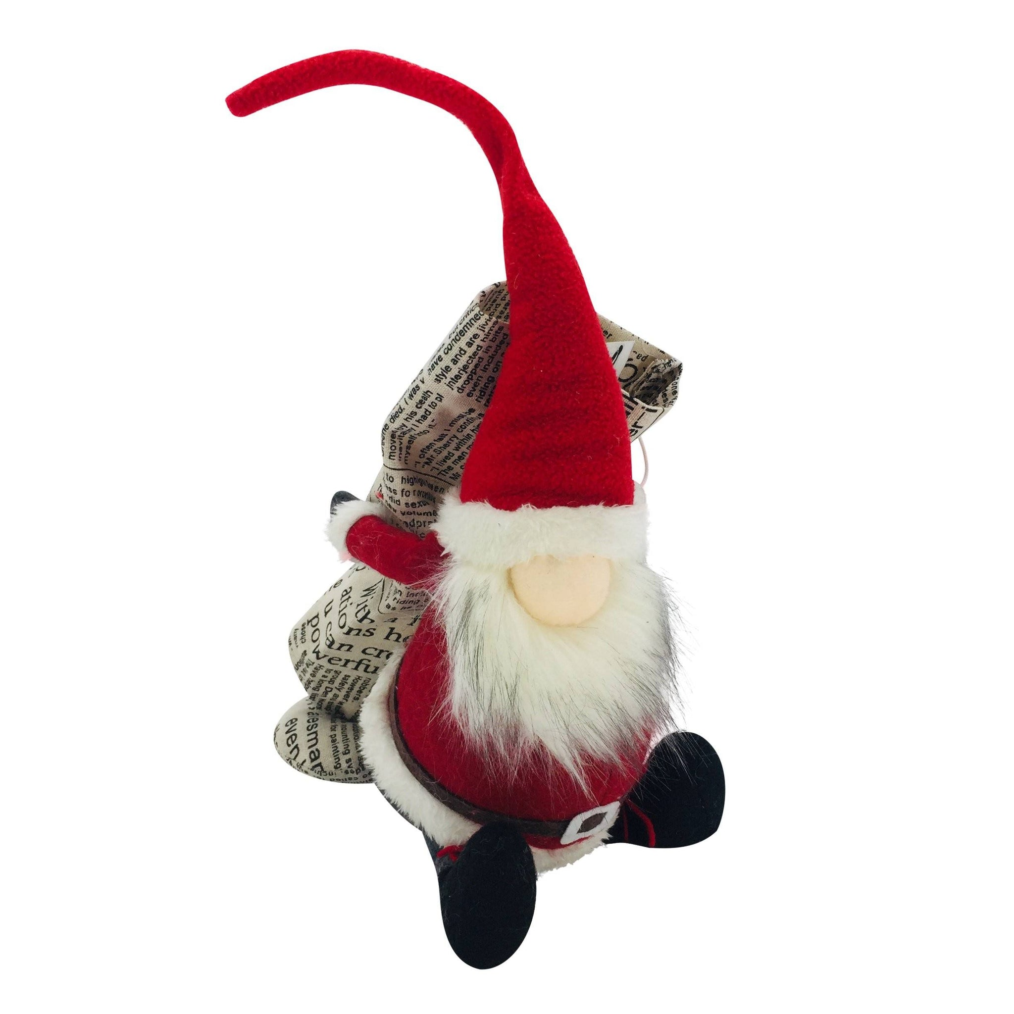SANTA CLAUS GNOME BOTTLE HOLDER