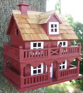 NOVELTY COTTAGE BIRDHOUSE – RED