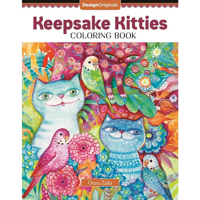 Keepsake Kitties Coloring Book