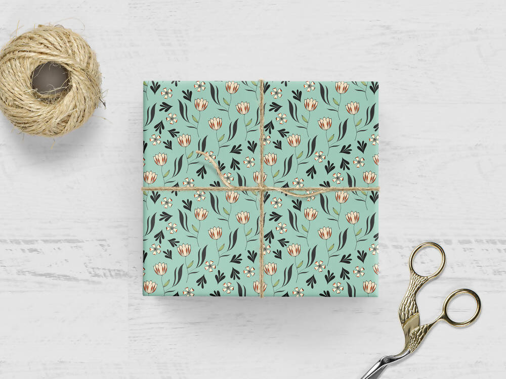 TULIP FIELDS WRAPPING PAPER