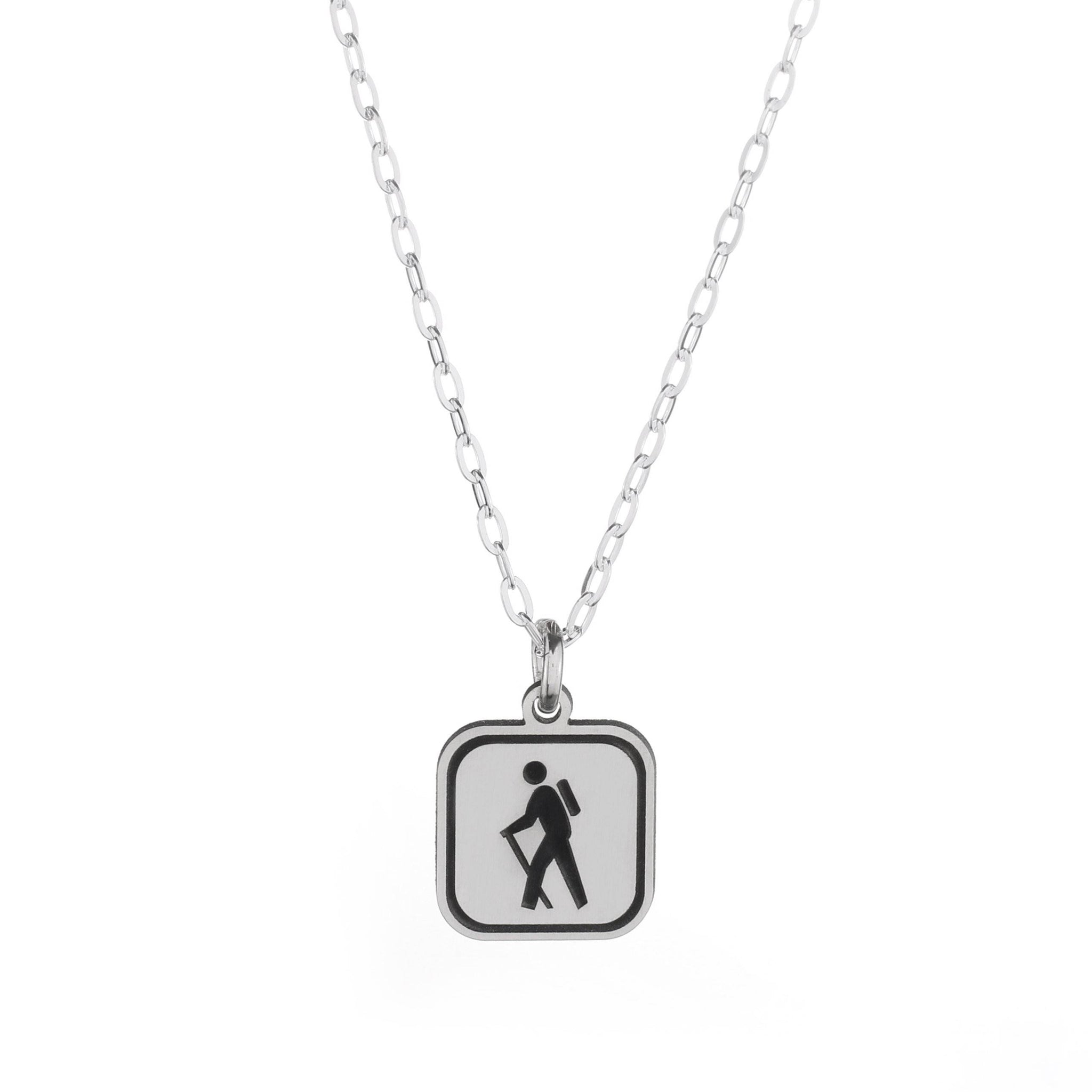 Hiking Mini Sign Necklace