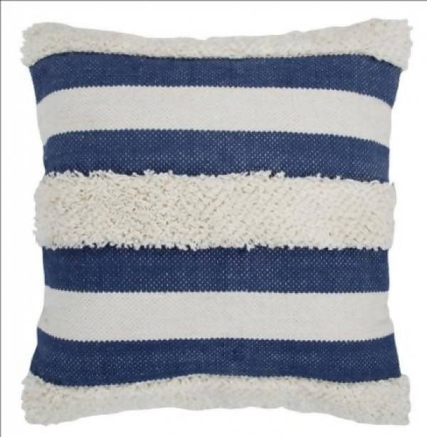 Handwoven Pillow/KC 25 IV NVY 22