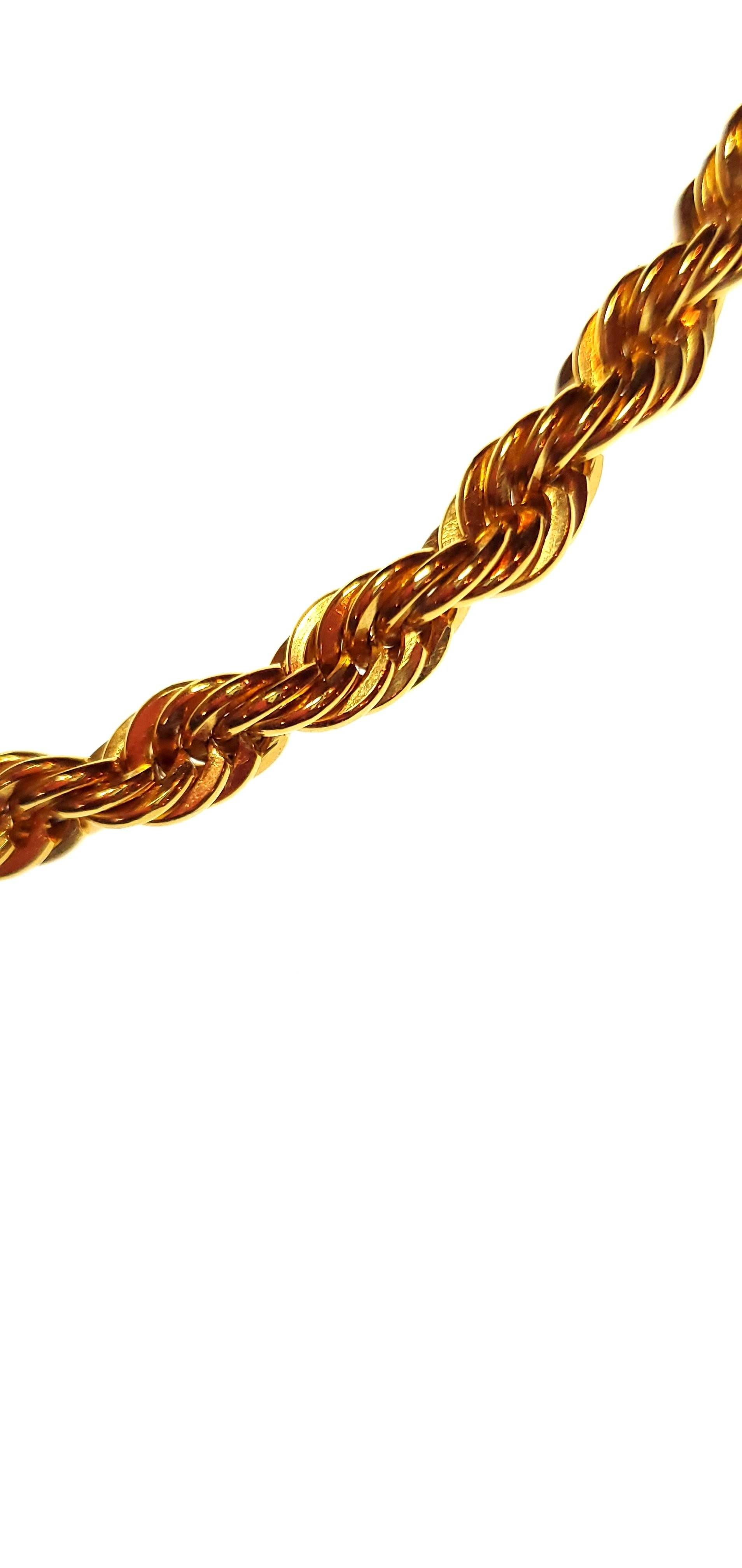 Char Rope Choker Necklace