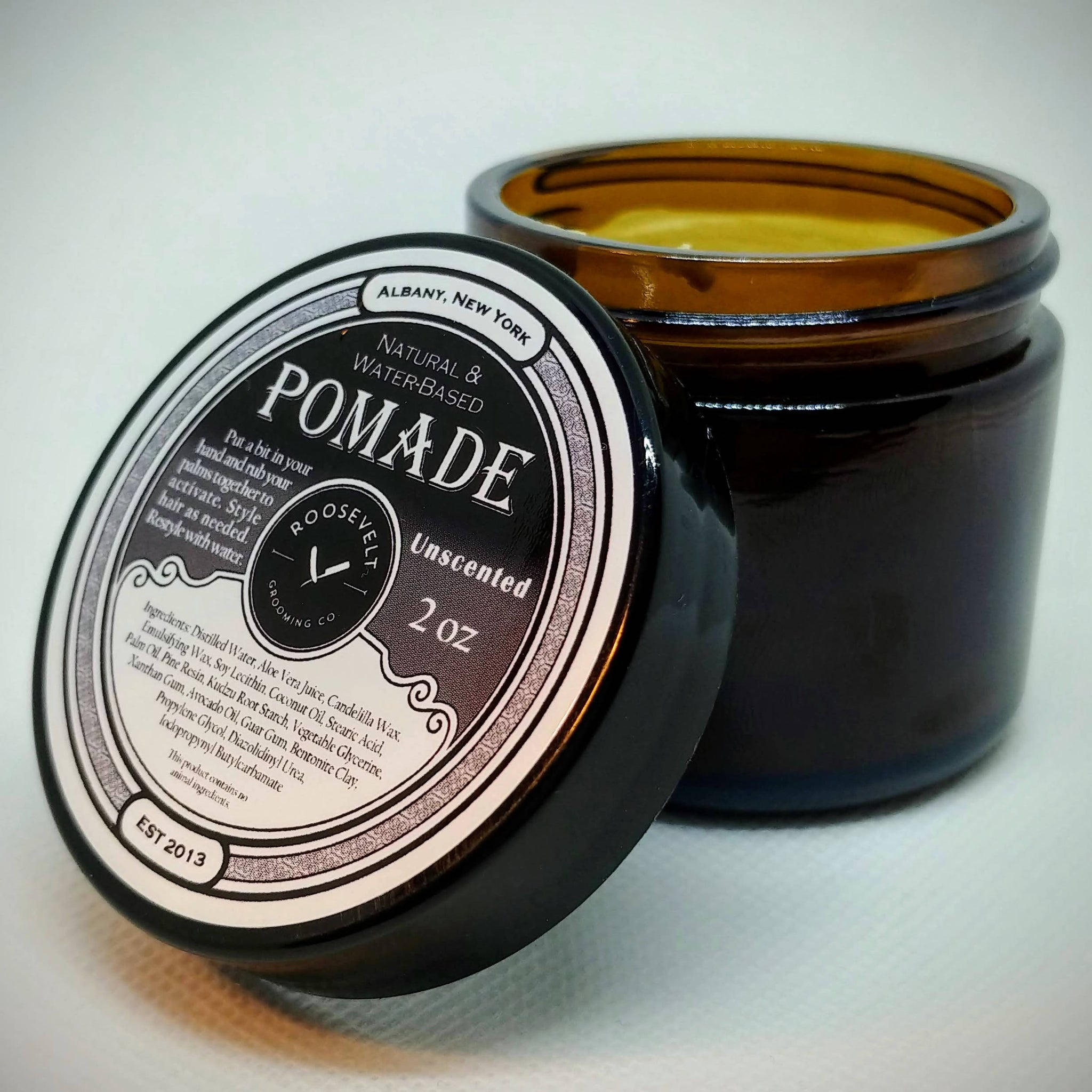 Pomade Hair Paste: Water-Based, Natural, Petroleum-Free and Vegan too! - Medium Hold