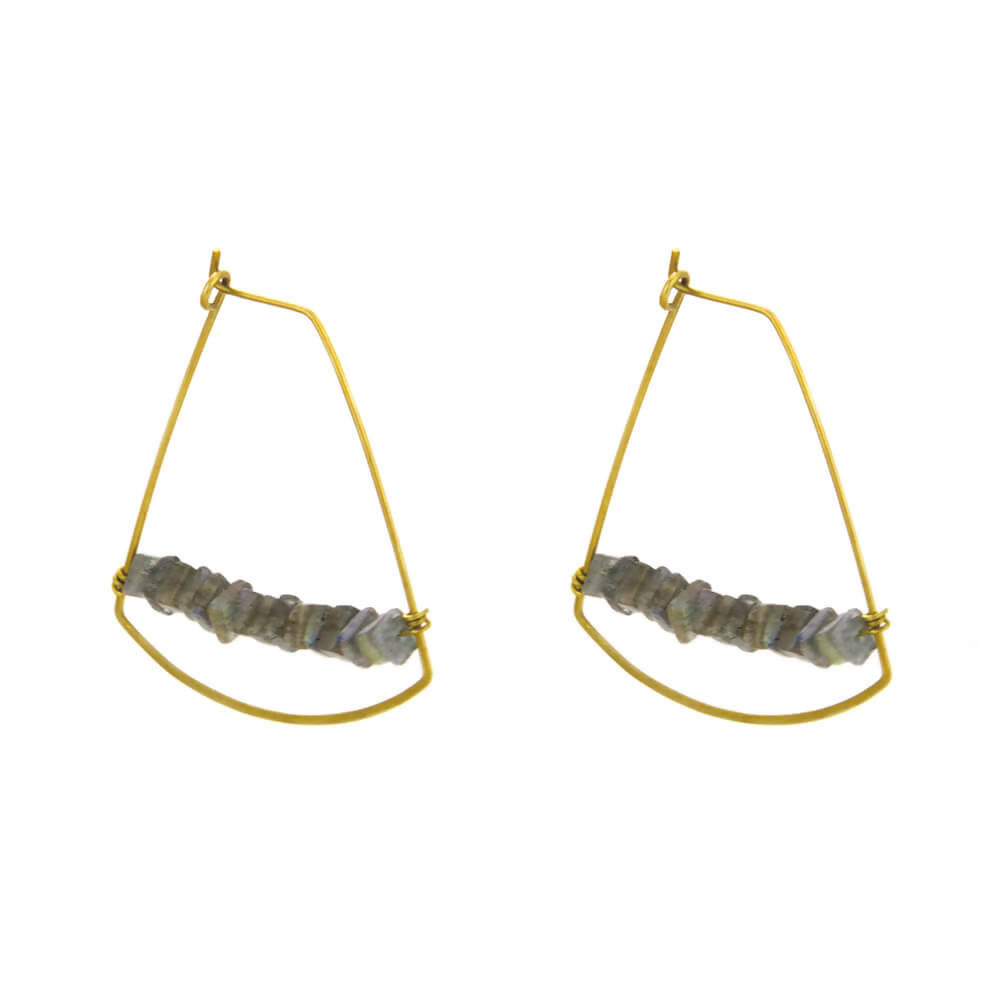 Heishi Harp Earrings