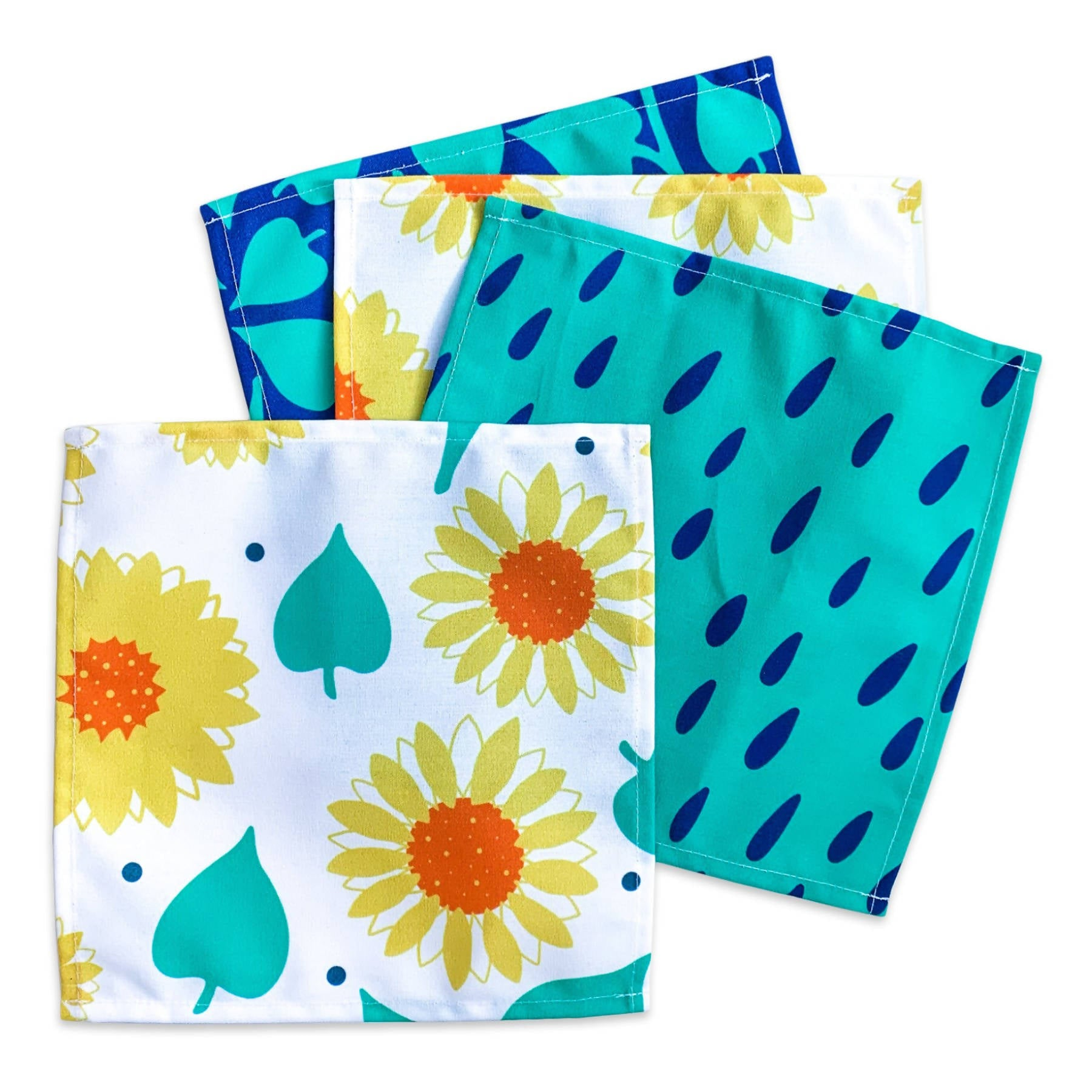 Cocktail Napkins - Sunflowers & Leaves Set of 4