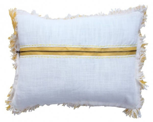 Handwoven Decorative Pillow/AD 541 IVR YWL 1420
