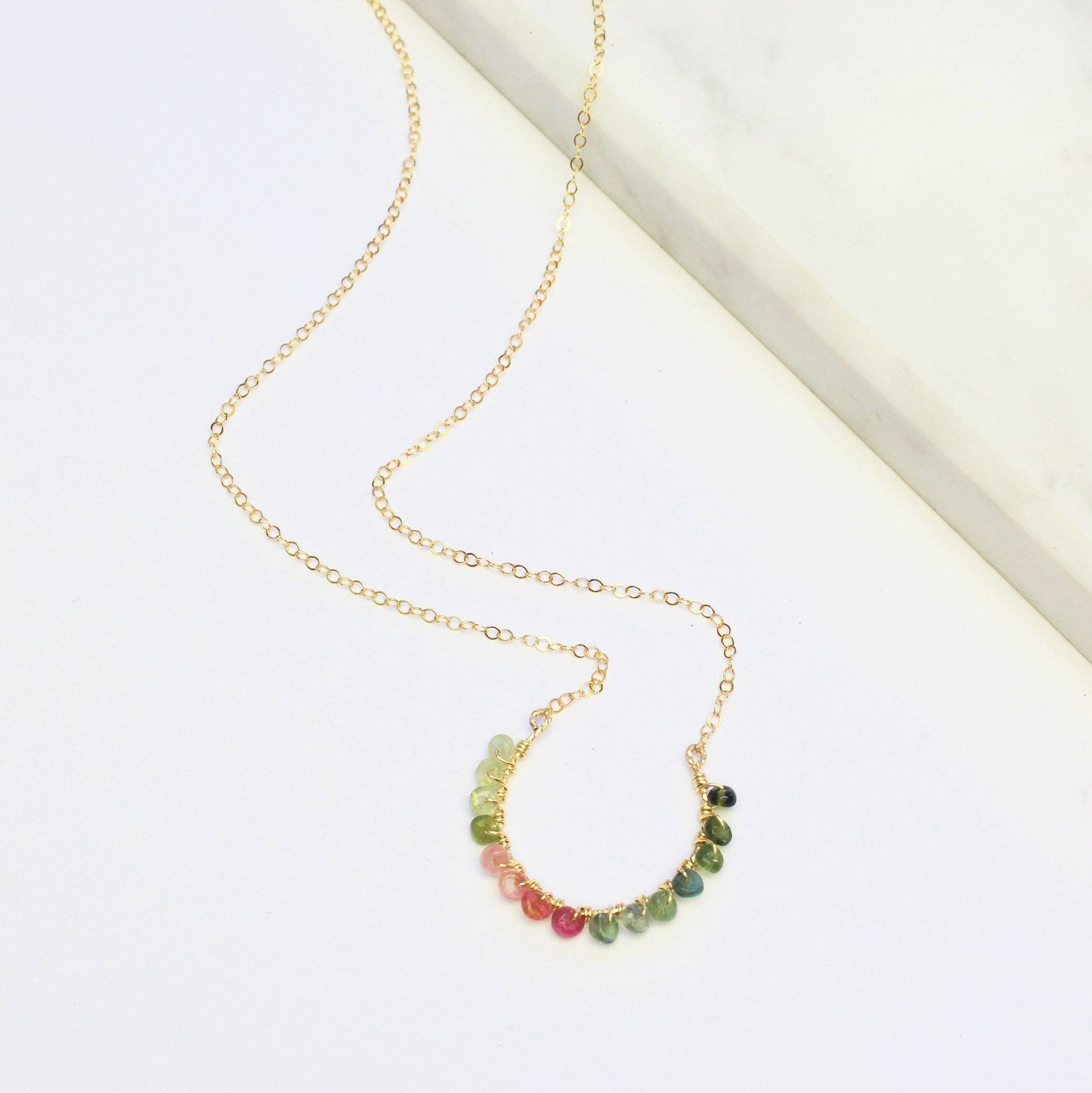 Crescent Rainbow Necklace