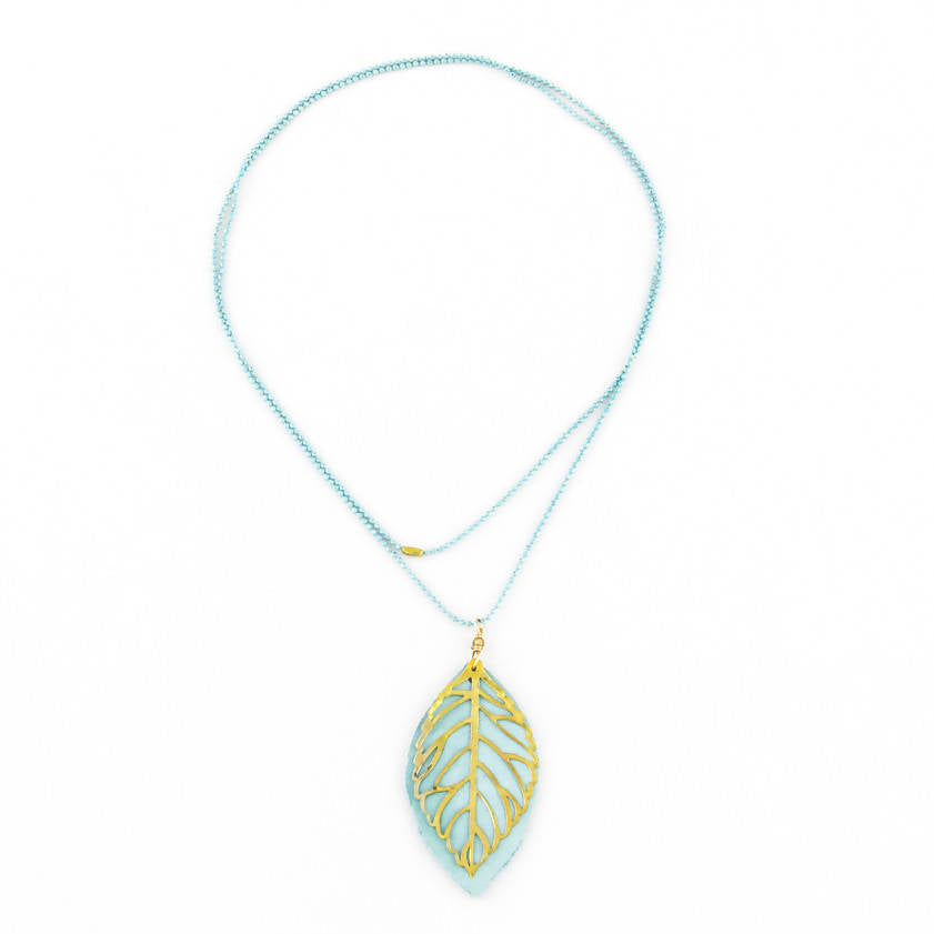 Long Layer Leaf Necklace