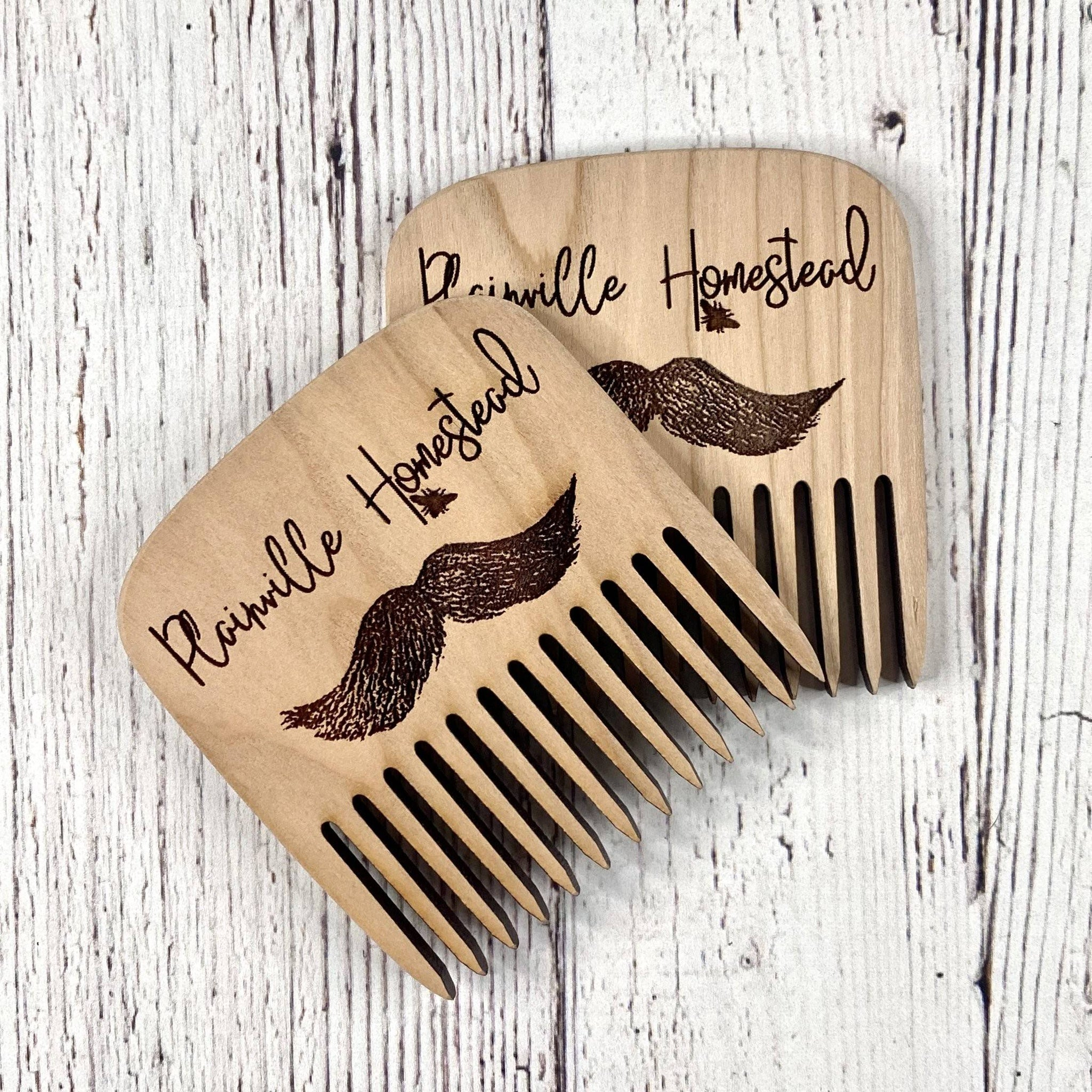 Cherry Wood Beard Comb | Laser Cut