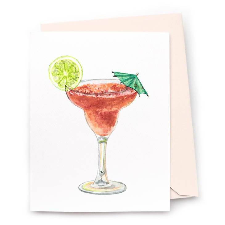 Strawberry Daiquiri Note Card, Set of 8